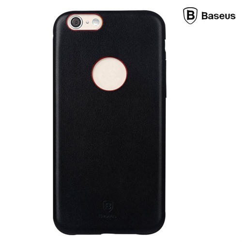 Baseus Thin Case (1mm) iPhone 6 Plus Arka Kapak - Siyah (Suni Deri)