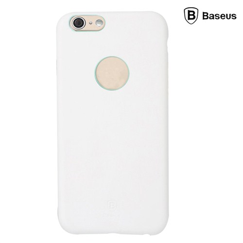 Baseus Thin Case (1mm)  iPhone 6 Plus Arka Kapak - Beyaz (Suni Deri)