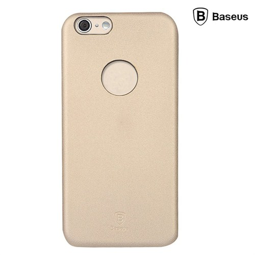 Baseus Thin Case (1mm)  iPhone 6 Plus Arka Kapak - Altın (Suni Deri)
