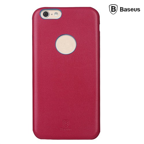 Baseus Thin Case (1mm) iPhone 6 Plus Arka Kapak - Kırmızı (Suni Deri)
