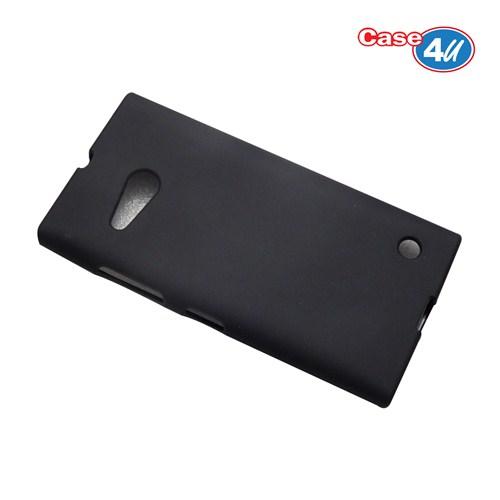 Case 4U Nokia Lumia 735 Soft Silikon Kılıf Siyah