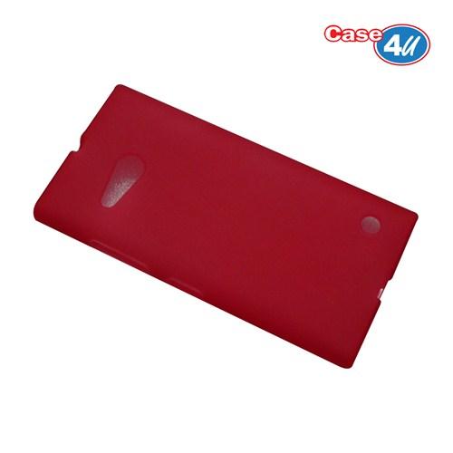 Case 4U Nokia Lumia 735 Soft Silikon Kılıf Kırmızı