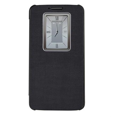 Case 4U Lg G2 Smart Wake on Kılıf (Sview Özellikli) Siyah (Ekran Koruyucu Hediye)