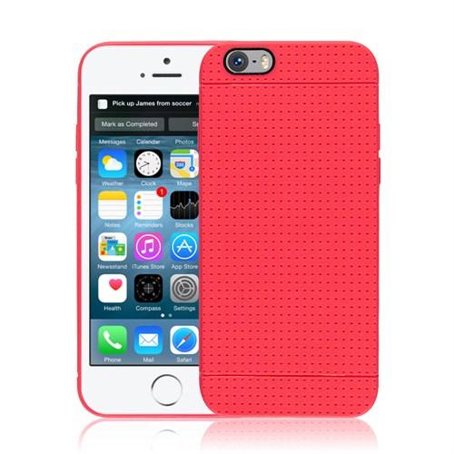 Microsonic iPhone 6 (4.7'') Dot Style Silikon Kılıf Kırmızı - CS120-DOT-IP6-KRZ