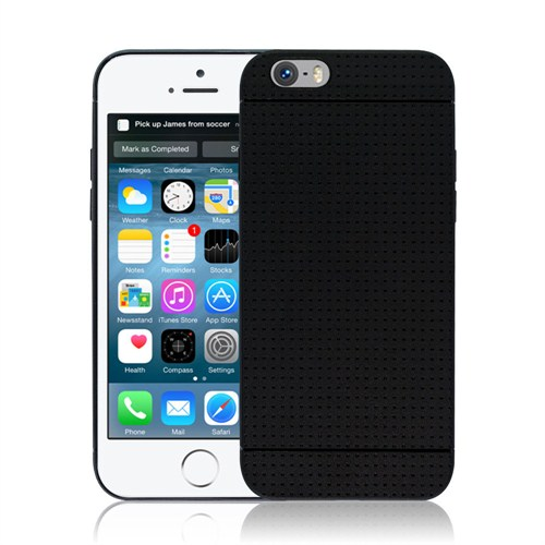 Microsonic iPhone 6 (4.7'') Dot Style Silikon Kılıf Siyah - CS120-DOT-IP6-SYH