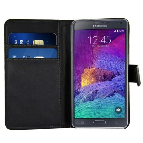 Microsonic Samsung Galaxy Note 4 Cüzdanlı Suni Deri Kılıf Siyah - CS150-WLT-GLX-NOTE4-SYH