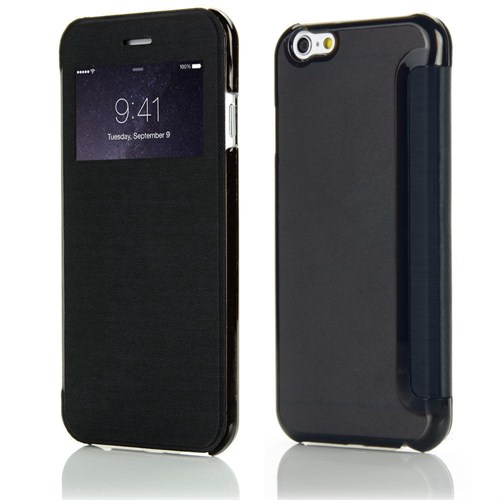 Microsonic iPhone 6 Plus (5.5) View Cover Delux Kapaklı Kılıf Siyah - CS150-V-DLX-IP6P-SYH