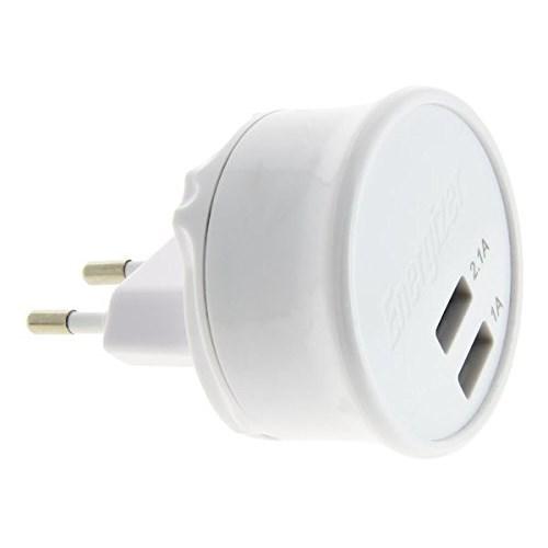 Energizer AC2UUNUIP5 iPhone5/5s/5c/6/6Plus/iPod Lightning Çift USB Seyahat Şarj Cihazı
