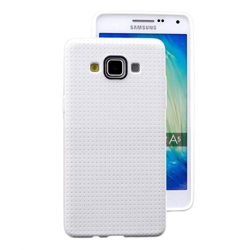 Microsonic Dot Style Silikon Samsung Galaxy A5 Kılıf Beyaz - CS120-DOT-GLX-A5-BYZ