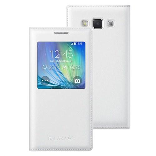 Microsonic View Cover Delux Kapaklı Samsung Galaxy A5 Kılıf Akıllı Modlu Beyaz - CS150-V-DLX-GLX-A5-