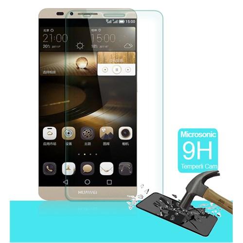 Microsonic Temperli Cam Ekran koruyucu Huawei Ascend Mate 7 Kırılmaz - SG106-GLSS-HW-MATE7