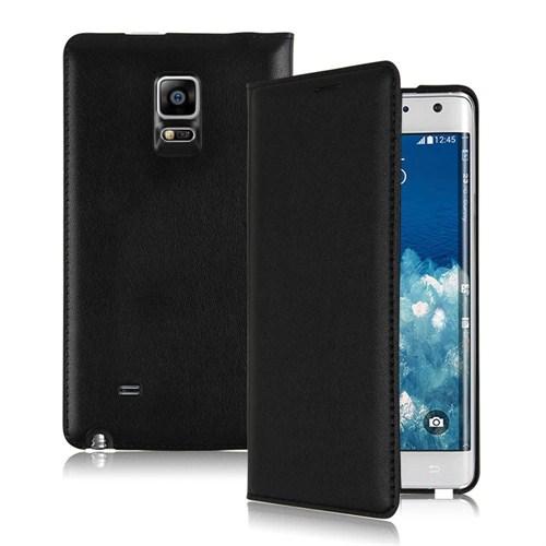 Microsonic Delux Kapaklı Samsung Galaxy Note Edge Kılıf Siyah - CS150-DLX-NOTE-EDGE-SYH