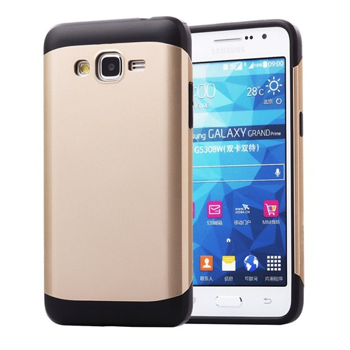 Microsonic Slim Fit Dual Layer Armor Samsung Galaxy Grand Prime Kılıf Sarı - CS130-DL-ARMR-GLX-PRME-