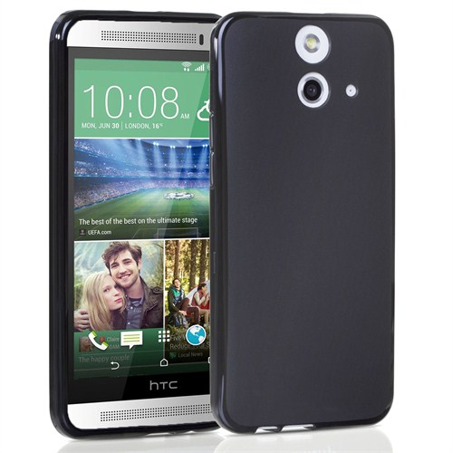 Case 4U HTC One (E8) Soft Silikon Kılıf Siyah