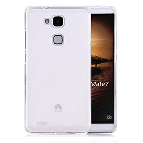Case 4U Huawei Ascend Mate 7 Soft Silikon Kılıf Şeffaf