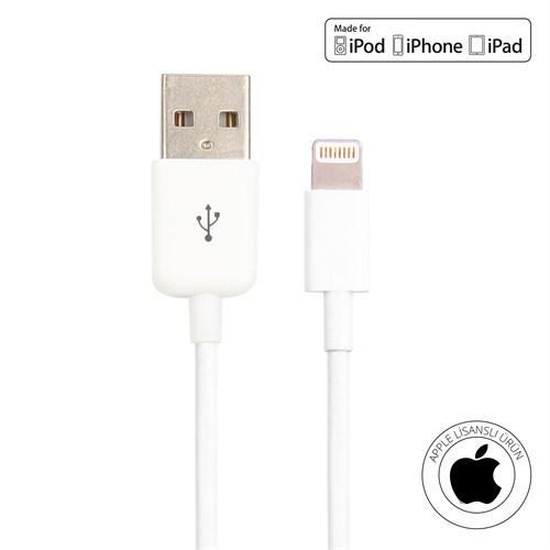 Mirax iPhone 6/6Plus/5/5S/5C/iPad/iPod Şarj ve Data Kablosu (Orijinal Apple Lisanslı) - mirax SDE- 5100