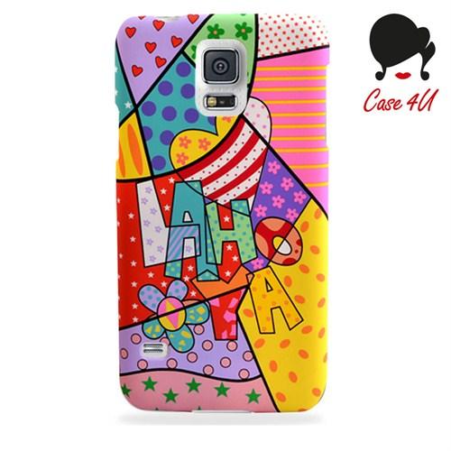 Case 4U Ladies Samsung Galaxy S5 Laho Desenli Arka Kapak
