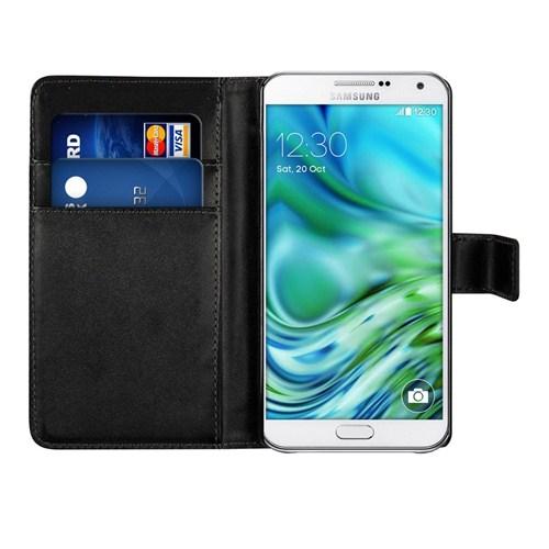 Microsonic Cüzdanlı Suni Deri Samsung Galaxy A7 Kılıf Siyah - CS150-WLT-GLX-A7-SYH