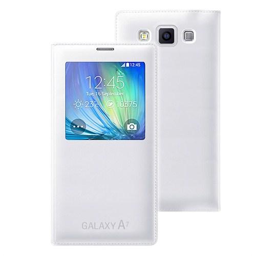Microsonic View Cover Delux Kapaklı Samsung Galaxy A7 Kılıf Akıllı Modlu Beyaz - CS150-V-DLX-GLX-A7-BYZ