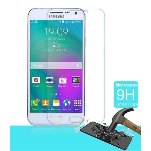 Microsonic Samsung Galaxy E7 Temperli Cam Ekran Koruyucu - SG106-GLSS-GLX-E7