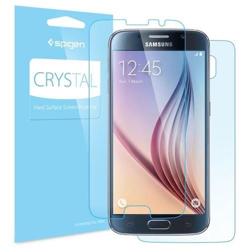 Spigen Samsung Galaxy S6 Ultra Crystal 2 Adet Ön +1 Adet Arka Ekran Koruyucu - 11306