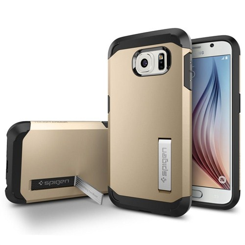 Spigen Samsung Galaxy S6 Kılıf Tough Armor - Champagne Gold - SGP11338
