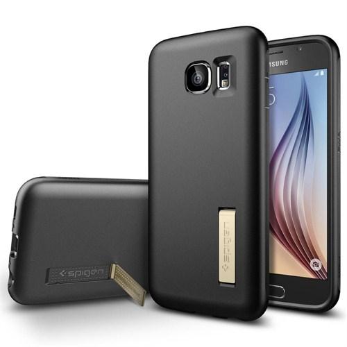 Spigen Sgp Samsung Galaxy S6 Kılıf Capsule Solid - Black - SGP11436
