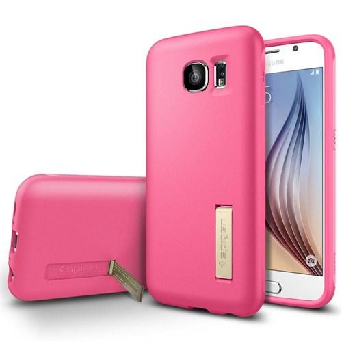 Spigen Sgp Samsung Galaxy S6 Kılıf Capsule Solid - Azalea Pink (Pearl) - SGP11437