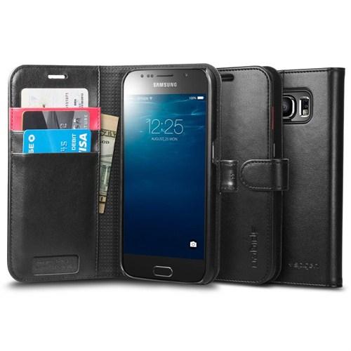 Spigen Samsung Galaxy S6 Kılıf Wallet S (Cüzdan) - Black - 11340