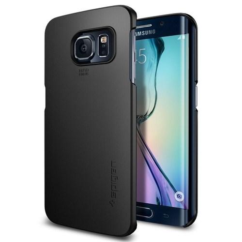 Spigen Sgp Samsung Galaxy S6 Edge Kılıf Thin Fit - Smooth Black - SGP11408