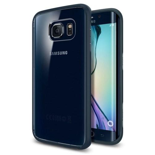 Spigen Sgp Samsung Galaxy S6 Edge Kılıf Ultra Hybrid - Metal Slate - SGP11415