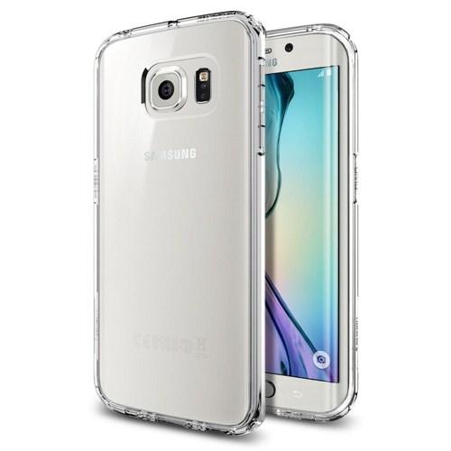 Spigen Sgp Samsung Galaxy S6 Edge Kılıf Ultra Hybrid - Crystal Clear - SGP11419