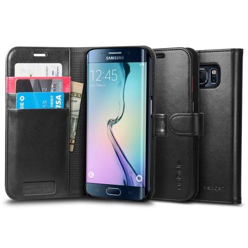 Spigen Sgp Samsung Galaxy S6 Edge Kılıf Wallet S (Cüzdan) - Siyah - SGP11433