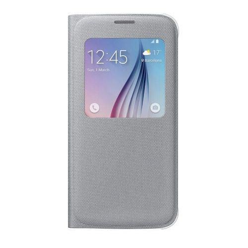 Samsung Galaxy S6 S View Cover Fabric Gri Kılıf - EF-CG920BSEGWW
