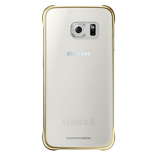 Samsung Galaxy S6 Şeffaf Gold Kılıf - EF-QG920BFEGWW