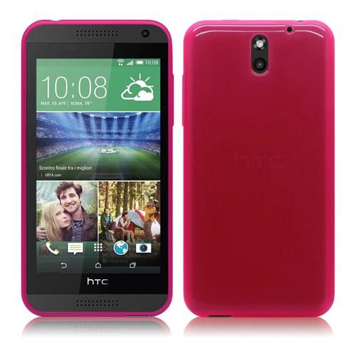 Case 4U HTC Desire 610 Soft Silikon Kılıf Pembe
