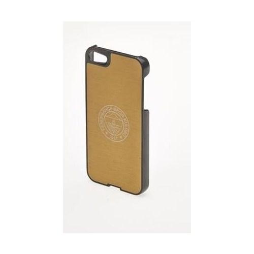 Mbx Apple iPhone 5/5S FB Alüminyum Lazer Yarım Sarı Arka Kapak - 24.MO.FB.KP.YR.04