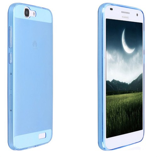 Case 4U Huawei Ascend G7 Ultra İnce Silikon Kılıf Mavi