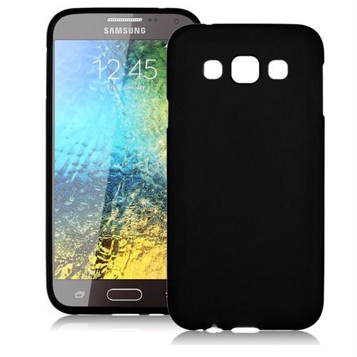 Case 4U Samsung Galaxy E7 Soft Silikon Kılıf Siyah