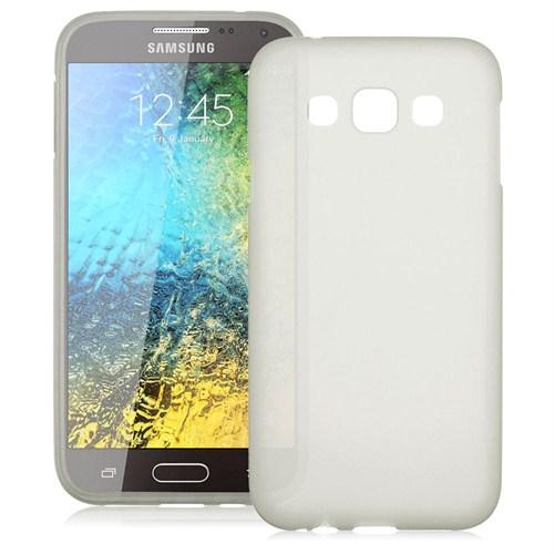 Case 4U Samsung Galaxy E7 Soft Silikon Kılıf Şeffaf