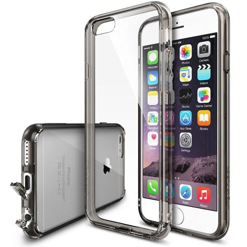 Ringke Apple iPhone 6 Plus İsli Siyah Kenarlı Şeffaf Ringke Fusion Kılıf