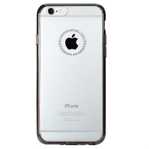 Rearth Apple iPhone 6 Plus Siyah Kenarlıklı Şeffaf Ringke Noble Ring Kılıf