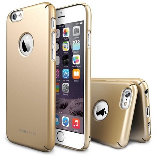 Rearth Apple iPhone 6 Plus Altın Ringke Slim Kılıf
