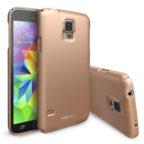 Rearth Samsung Galaxy S5 Altın Ringke Slim Kılıf