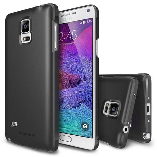 Rearth Samsung Galaxy Note 4 Siyah Ringke Slim Kılıf