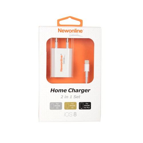 Newonline iPhone 6/6 Plus/5/5s Ev Şarj ve USB Kablo - (NW-IP5/6G-HOME)