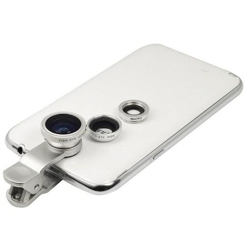 Apprise 3 in 1 Universal Clip Telefon Lensi - Gümüş