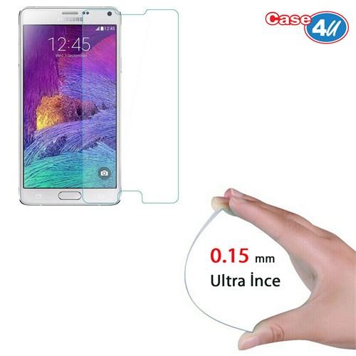 Case 4U Samsung Galaxy Note 4 Ultra İnce Cam Ekran Koruyucu (0.15mm)
