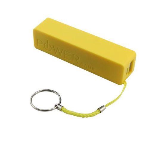 Microsonic Powerbank Taşınabilir Şarj Cihazı Harici Usb Batarya 2600Mah Sarı