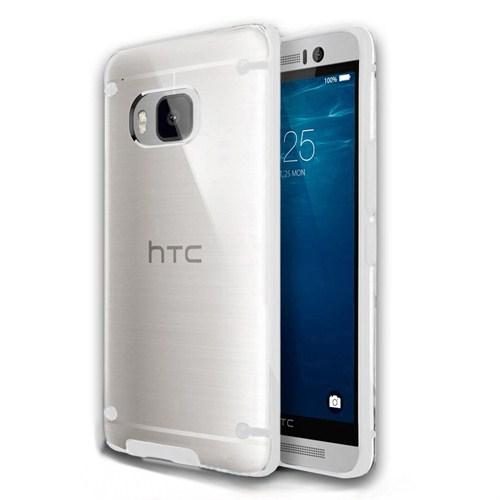 Microsonic Hybrid Transparant Htc One M9 Kılıf Beyaz